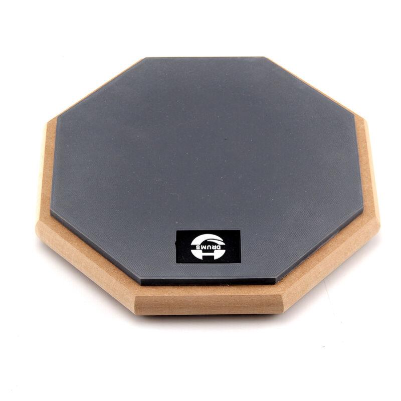 "8"" Soft Black Dumb Drum Pad Exercise Mat Blow Plate Drummers Rubber Double Sides 5"