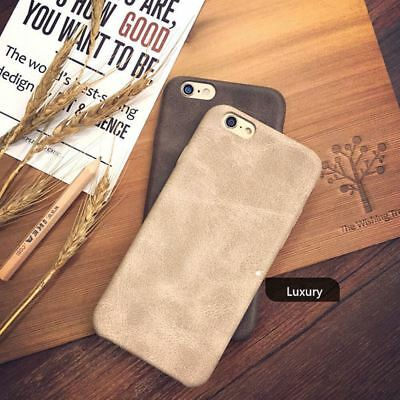 Genuine Original PU Leather Thin Slim Case Cover Apple iPhone 10 X 8 7 Plus 6s 5 6
