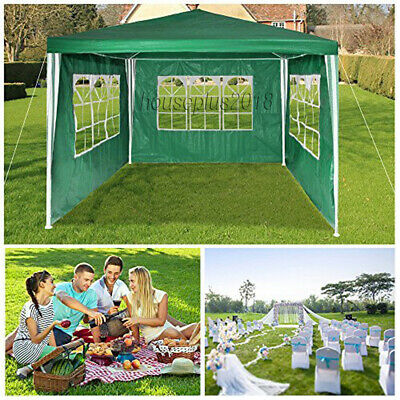 New 3X3m/4m/6m Waterproof Garden Gazebo Party Tent Marquee Awning Canopy Shelter 9