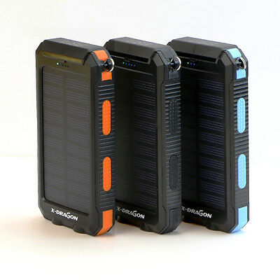 Waterproof 300000mAh Portable Solar Charger Power Bank Dual USB Battery RT Phone 6
