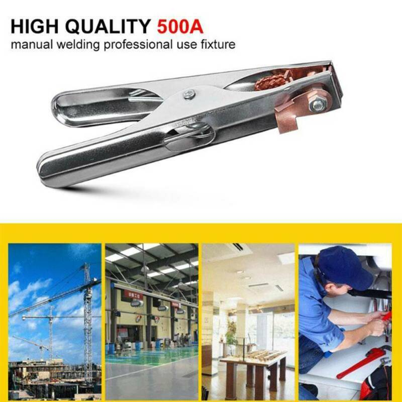 300A Earth Clamp Ground Cable Clip Welding Electrode Holder Tool Manual Welder 4