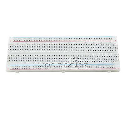 2Pcs MB-102 Solderless Breadboard Protoboard 830 Tie Points 2 buses Test Circuit 3