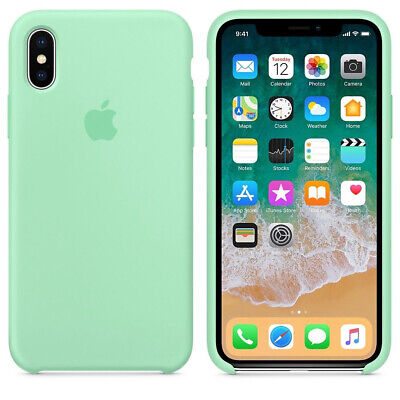 Original Silicone Leather Case For iPhone XR XS Max 6 7 8 Plus Genuine OEM Cover 7