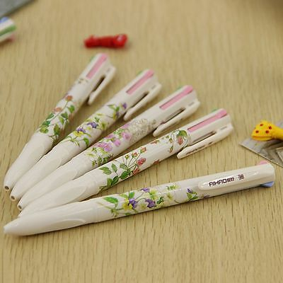 Ballpoint Office 4 Pens Stationery 1 Supplies School Happy For Students P6E3