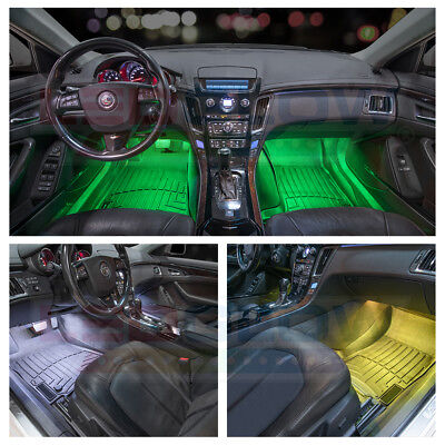 NEW! LEDGLOW 4pc 7 COLOR LED INTERIOR LIGHT KIT for ALL CARS w ACCENT NEON GLOW 4