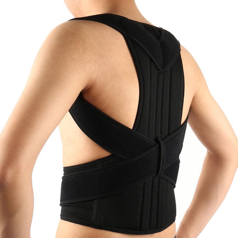 M/L/XL Rückenbandage Rückenhalter Haltungskorrektur Gürtel Rücken Stabilisator 5