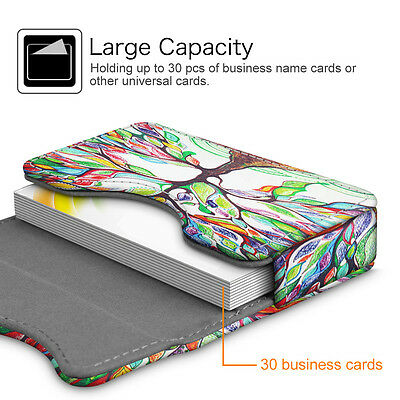 Business card holder name card wallet case organizer magnetic 3 of 7 business card holder name card wallet case organizer magnetic closure love tree colourmoves