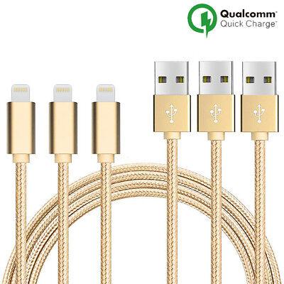 LOT3 CABLE USB CHARGEUR POUR IPHONE X 8 7 6S 6 PLUS 5 SE XR XS MAX Rapide 2Mètre 2