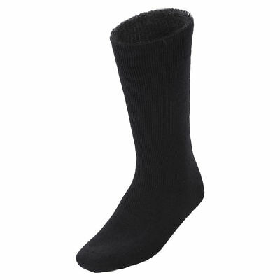 6Prs BAMBOO SOCKS Men's Heavy Duty Premium Thick Work BLACK Bulk New 2