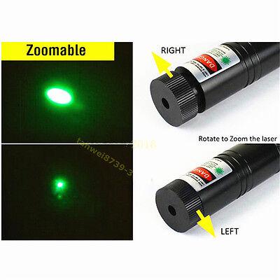 Neue Militärgrün Präsentationsbedarf Laserpointer Lazer Light Visible Beam Grün 7