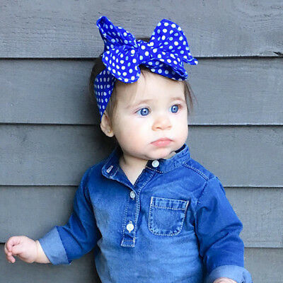 Baby Girls Floral Headwrap Top Knot Big Bow Turban Tie Headband Hair Accessories 3