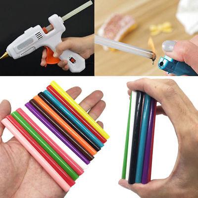 10pcs 12 Color Hot Melt Glue Stick Adhesive Sticks Kit Craft Attaching DIY Tool 2