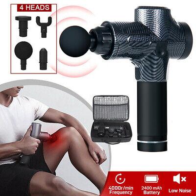 Electric Massage Gun Massagepistole Massager Muscle Massagegerät mit 4 Köpfe 3