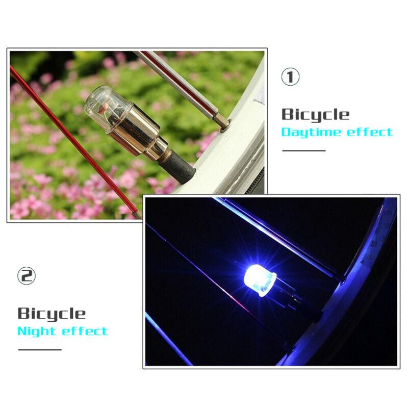 4Pcs LED Dragonfly Car Wheel Tyre Light Bulb Tire Air Valve Stem Cap Lamp Decor 10