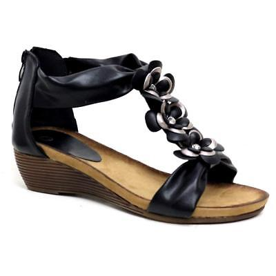 Ladies Wedge Sandals Womens Heels New Fancy Summer Dress Party Beach Shoes Size 2