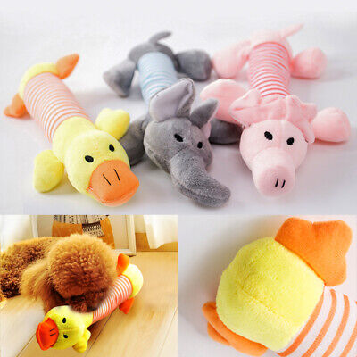 UK Funny Soft Pet Puppy Chew Play Squeaker Squeaky Cute Plush Sound For Dogs Toy 2
