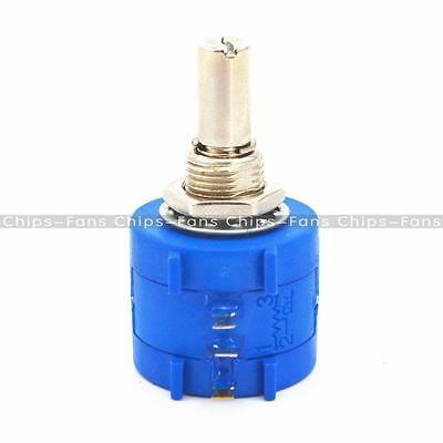 3590S Rotary Wirewound Precision Potentiometer Pot 10 Turn Ohm Variable Resistor 2
