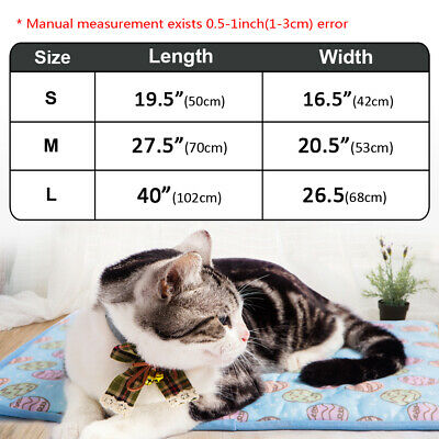 Indoor Summer Cat Dog Self-Cooling Mat Hot Weather Puppy Sleeping Bed Chihuahua 2