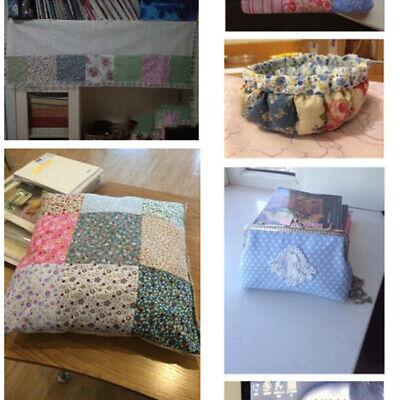 7Pcs 100% Cotton Fabric Assorted Pre-Cut Bundle DIY Decor 25cm CHRISTMAS GIFT 6