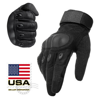 Army Military Combat Hunting Shooting Tactical Hard Knuckle Full Finger Gloves 2