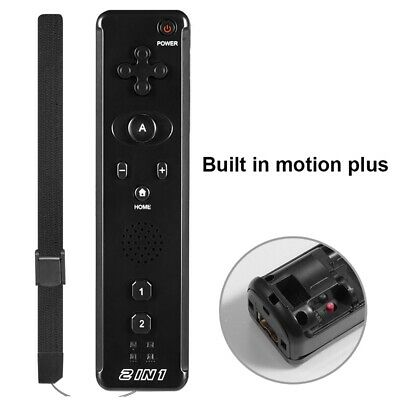 1x / 2x 2 in 1 Built in Motion Plus Remote Controller For Nintendo Wii & Wii U 8