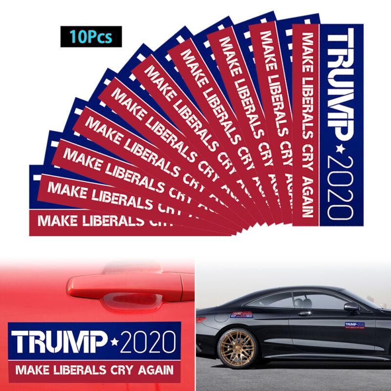 10PCS Donald Trump Bumper Sticker 2020 Make Liberals Cry Again Lot 2