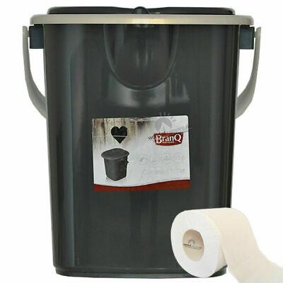 Toilettes Camping Toilette Sèche Portable Seau WC Portatif Voyage 22L BRANQ Neuf 5