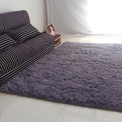 Fluffy Rugs Anti-Skid Shaggy Area Rug Dining Room Carpet Floor Mat Home Bedroom 7