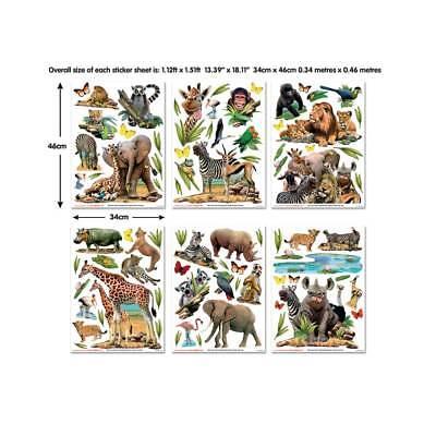 Wandsticker Dschungeltiere Afrika Safari Lowe Elefant Wandtattoo Kinderzimmer Eur 43 99 Picclick De