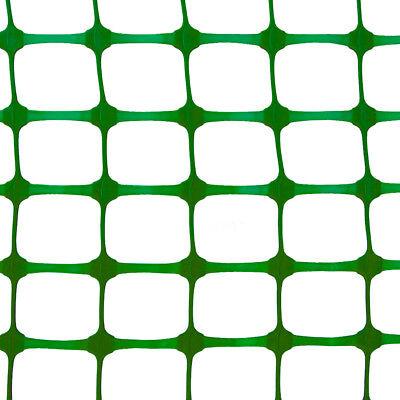 PLASTIC MESH BARRIER SAFETY FENCE Metal Steel Fencing Pins Netting Net Orange 1m 5