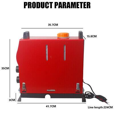 12V 5KW Diesel Air Heater Remote Control LCD Display For Truck Van Motorhome UK 5