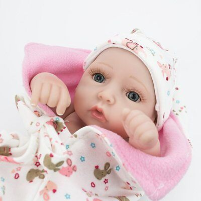 "Lifelike Twins Baby Dolls Full Vinyl Silicone Real Life Doll Babies Girl Boy 10"" 12"