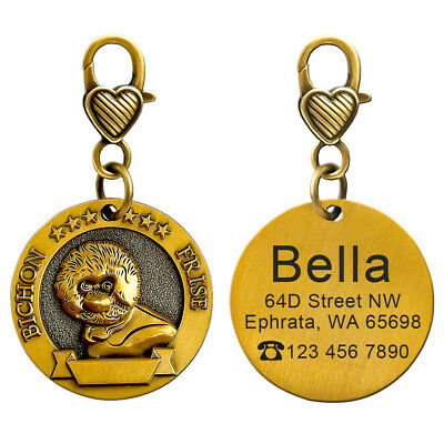 3D Dog ID Tags Engraved Personalized Metal Pet Custom Puppy Cat Name Tags Collar 8