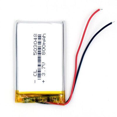10Pcs 503048 3.7V 800 mAh Battery Rechargeable Li-Polymer LiPo for GPS Bluetooth 5