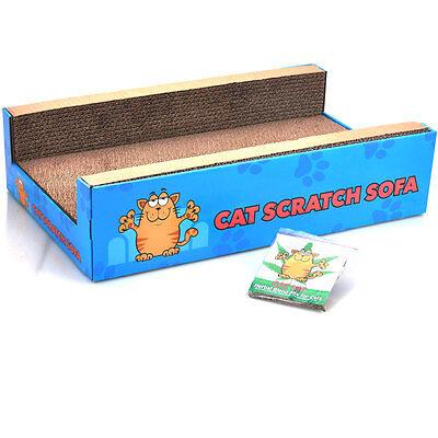 Cat Scratcher Sofa Lounge including free cat-nip Cardboard Scratch Post Cat Bed 3