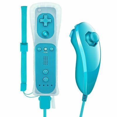 Built in Motion Plus Remote Nunchuck Controller + Case for Nintendo Wii & Wii U 6