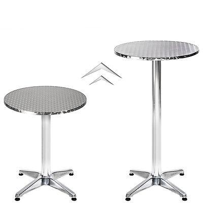 Table haute de bar aluminium bistrot restaurant mange debout  hauteur réglable