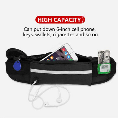 Running Bum Bag Fanny Pack Travel Waist Bags Money Zip Belt Pouch Sports Wallet 3
