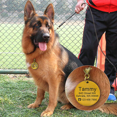 3D Dog ID Tags Engraved Personalized Metal Pet Custom Puppy Cat Name Tags Collar 12