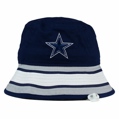 8a95fc43fb9 ... Dallas Cowboys NFL Team Stripe Bucket New Era Training Camp Men s  Floppy Hat Cap 2