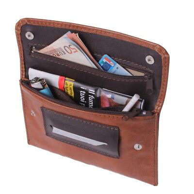 Portatabacco in pelle personalizzato artigianale  Porta Tabacco Cartine Filtrini