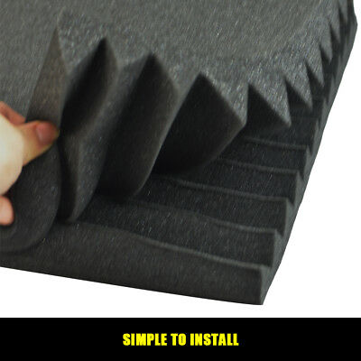 20 40 60PCS Studio Acoustic Foam Sound Absorbtion Proofing Panel Wedge 30/50CM 4