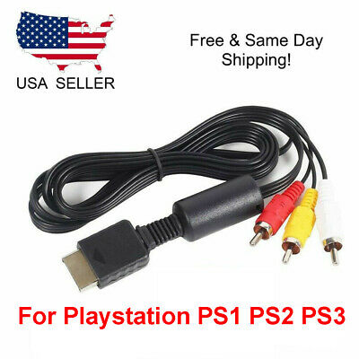 OEM 6FT RCA AV TV Audio Video Stereo Cable Cord For Playstation PS1 PS2 PS3 A/V 8