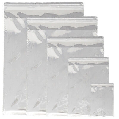 5 Sizes Crystal Clear Self Seal Transparent Plastic Cellophane Poly OPP Bags NEW 11