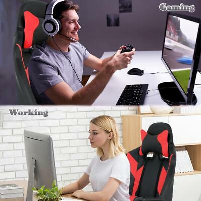 Gaming Chair Racing Chair Office Chair Ergonomic High-Back Leather Chair w/ Arms