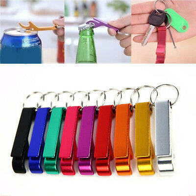 10x Bottle Opener Key Ring Chain Aluminum Keychain Metal Beer Bar Tools Claw NEW 7