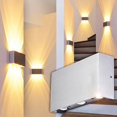 LED Wandleuchte Design Flur Bade Leuchten Wand Strahler Wohn