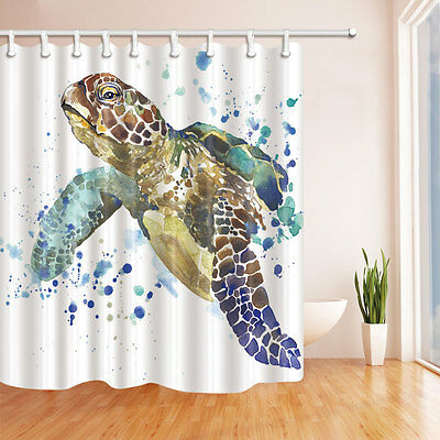 Bathroom Decor Sea Turtle Waterproof Fabric Shower Curtain