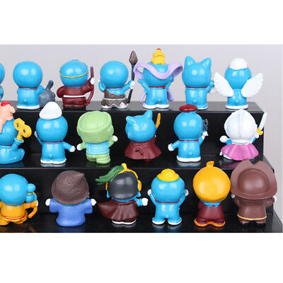 24 PCS Doraemon Cat-Like Robot Anime Action Figure Cute Doll Cake Topper Toy US