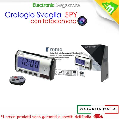 Sveglia Spia Spy Cam Con Telecamera Nascosta Motion Detection Micro Camera 2